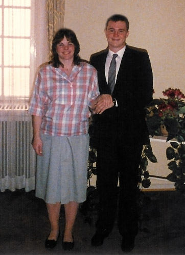 Sheila Darlene Clark and John Michael Wise getting married on June 3, 1986 in Wiesbaden, Germany