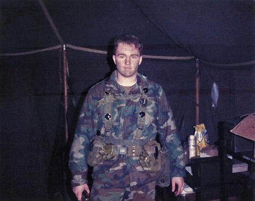 John Wise on training exercise in the U.S. Army 1986, Rhein Main Airbase Frankfurt, Germany