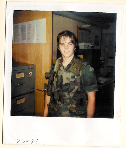 Sheila Clark on September 29, 1985 stationed with the U.S. Army in Wiesbaden, Germany