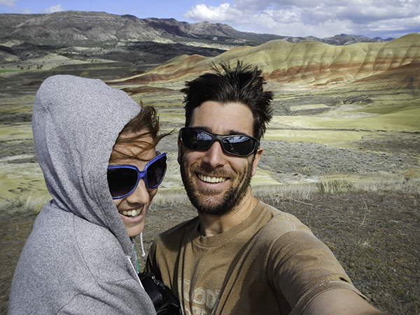us in the Painted Hills
