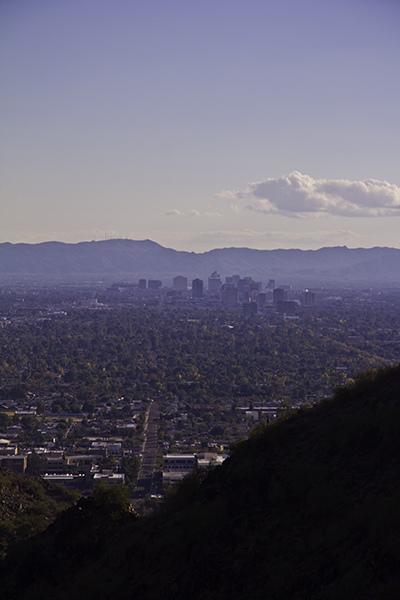 downtown Phoenix as seen from North Mtn.