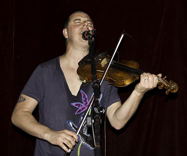 Aaron on fiddle