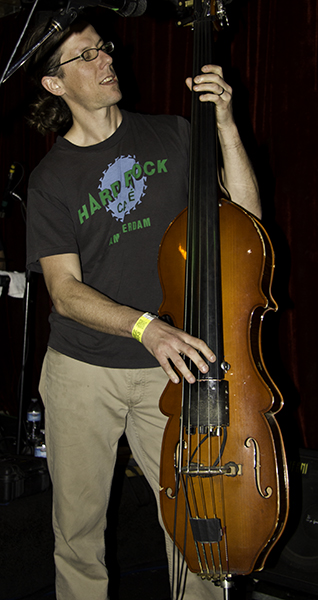 Bryan on double bass