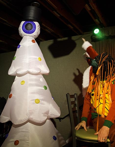 Santa worships the eye tree