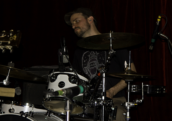 Lucas on drums