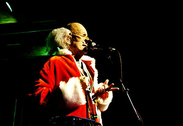 Santa takes the stage
