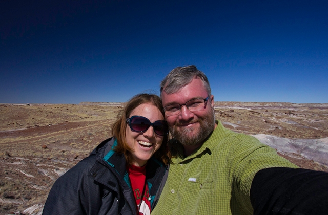 me and dad in the Petrified Forest