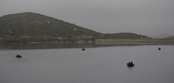 people fishing on Lake Poway