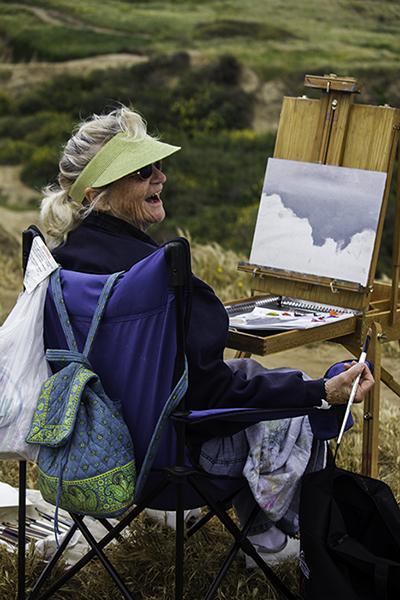 a painting lady