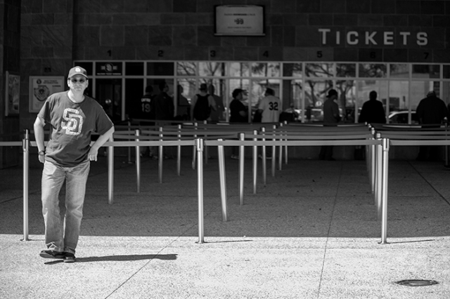 ticket line for the Padres opening game