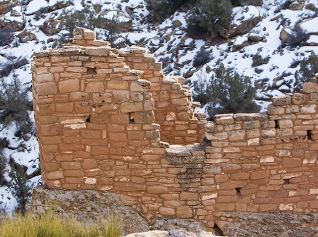 a tower ruin at Hovenweep National Monument