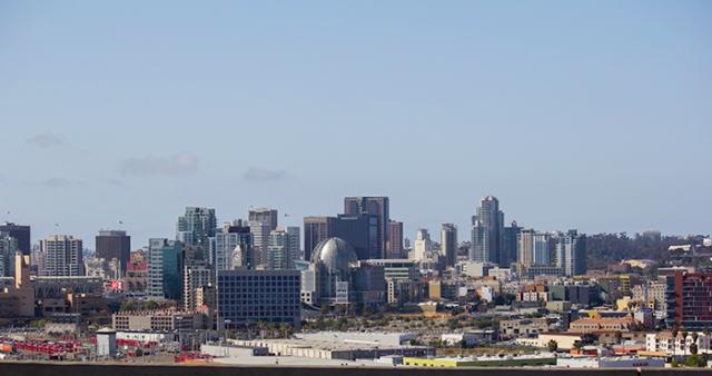 view of San Diego from the Coronado Bay bridge