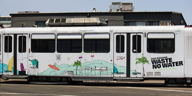 trolley advertising for wastenowater.org