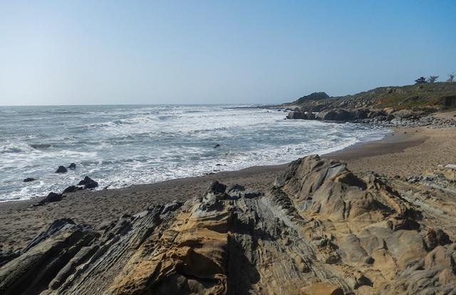 beach along San Francisco peninsula