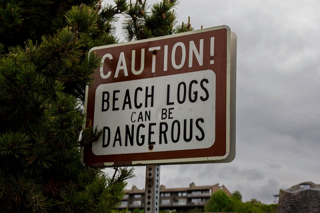 sign on Port Angeles beach