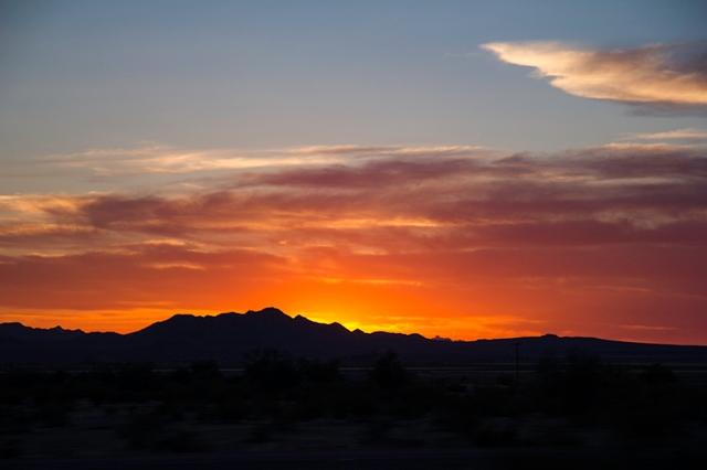 sunset on the AZ-85