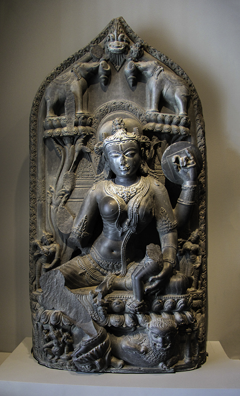 Hindu deity Parvati made of chlorite in the 11th century
