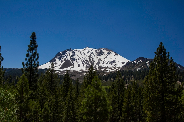 Lassen covered in snow