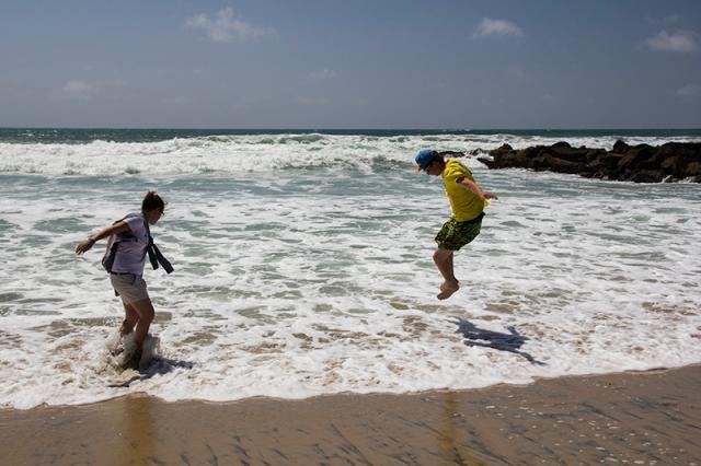 Charlotta and Paul enjoying Imperial Beach
