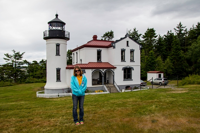 me in front of the Fort Casey Lighthouse - photo by Uncle Ed