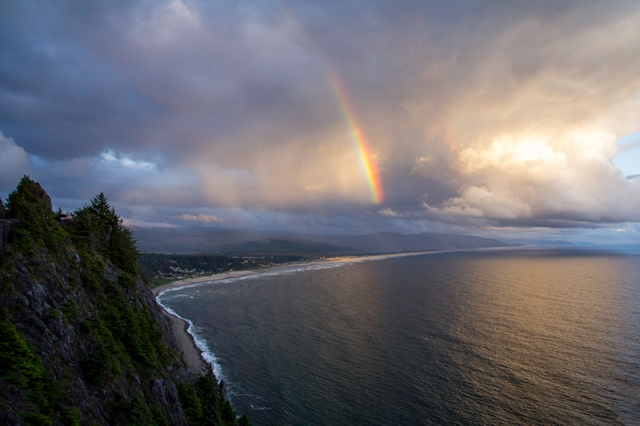 rainbow over Manzanita