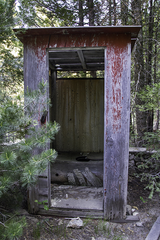 outhouse at Greenhorn Mountain Park