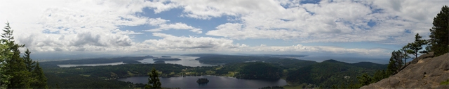 panorama view from Mount Erie