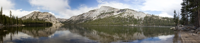 panorama of Tenaya Lake