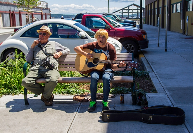 tourist and a local - Port Townsend