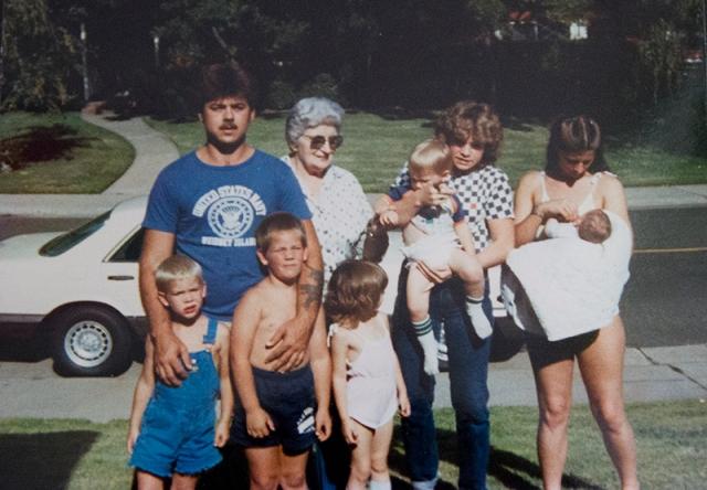 Ed, Great Grandma, Jamie, Terri, Paul, Eddie, Jessi, Kris, Caleb