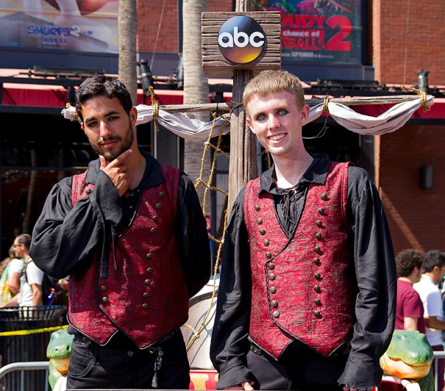 vampire-looking pirates for a show on ABC