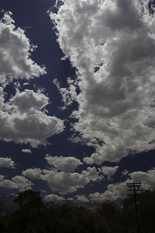 clouds in Lone Pine