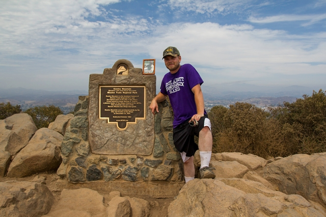 Jason at the top of Cowles Mountain