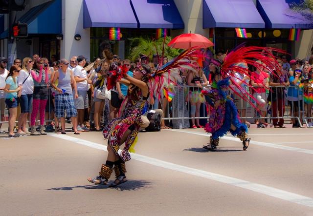 more costumed dancers