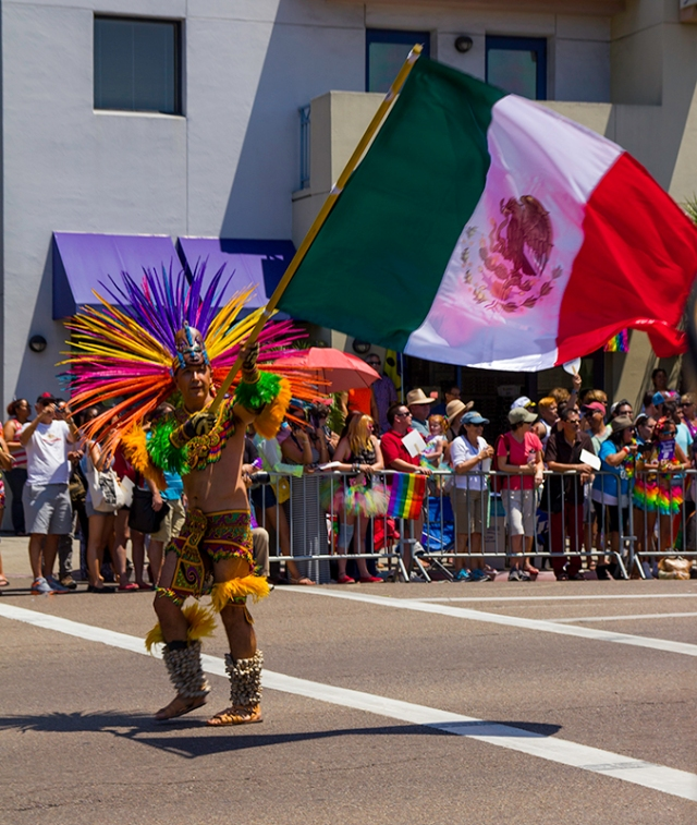 dancer with Mexican flag