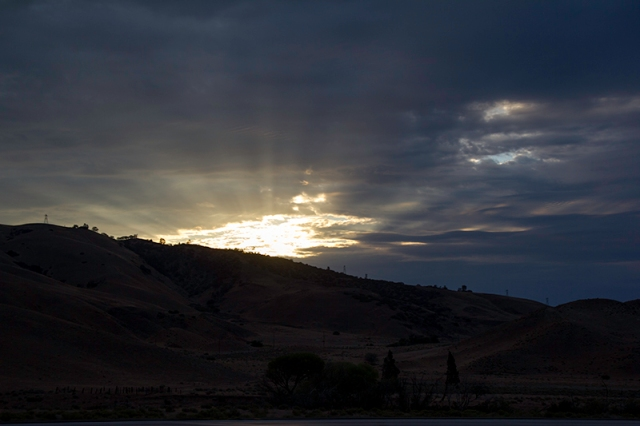 sunrise in southern California
