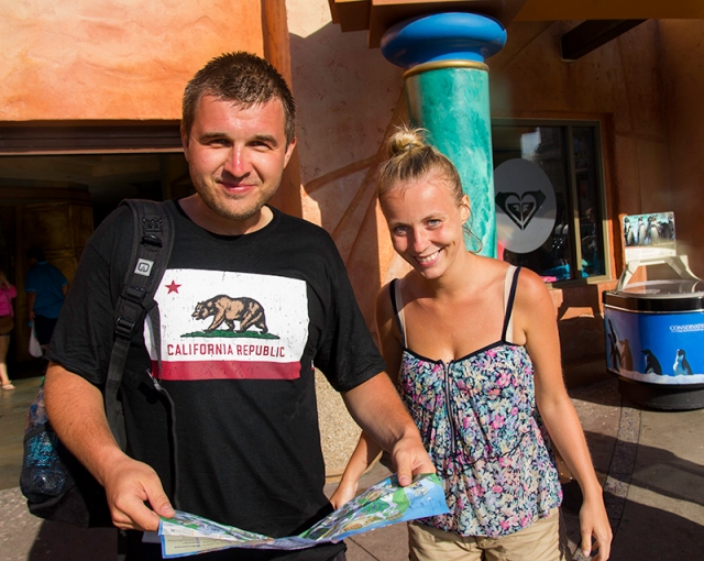Piotr and Justyna after Journey to Atlantis ride