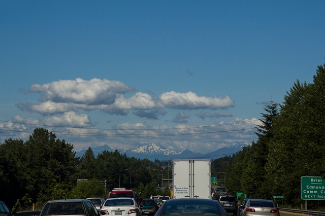 Seattle traffic with a great view