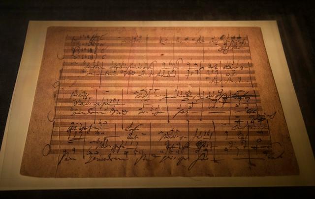Handel's Messiah written in the hand of Beethoven