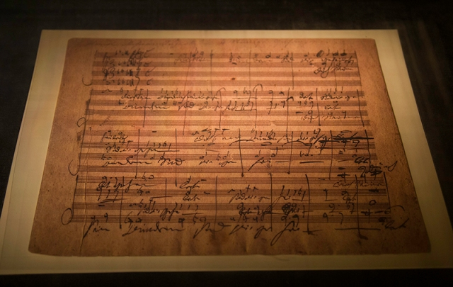 Handel's Messiah written in the hand of Beethoven