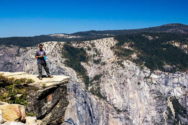 Caleb on the edge at Taft Peak