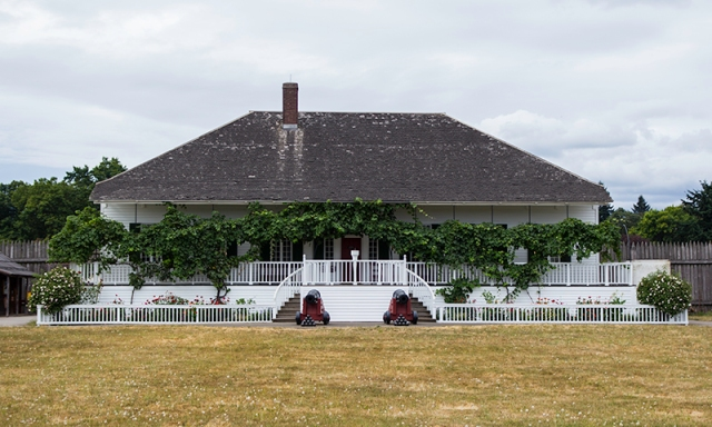 house inside Fort Vancouver