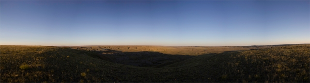 panorama of 70 Mile Butte