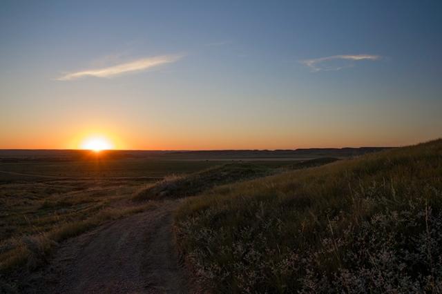 sunset on 70 Mile Butte