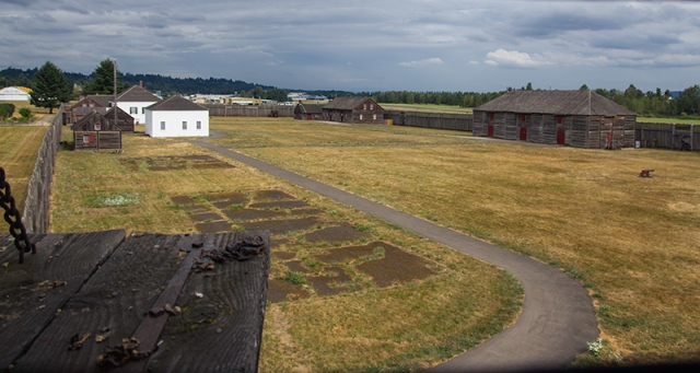 view from the lookout tower in Fort Vancouver