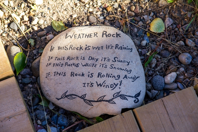 weather rock at Fort Whoop-Up