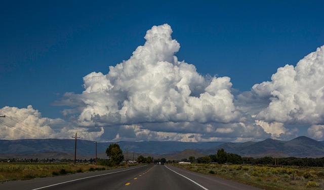 the road to Del Norte, Colorado