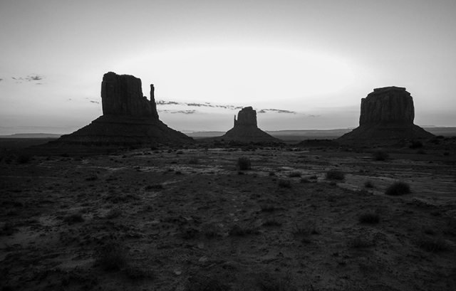 sunrise in black and white - by Caleb