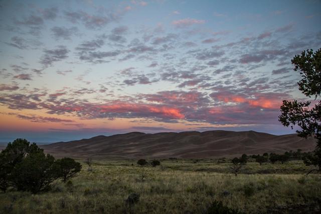 sunrise at Great Sand Dunes National Park