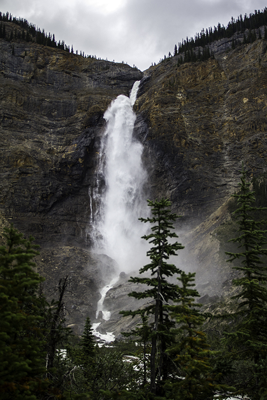 nearing Takakkaw Falls
